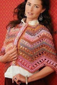 Patrón #737: Poncho a Crochet #ctejidas http://blgs.co/3EJxVS