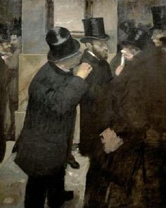 The Stock Exchange Giclee Print Poster by Edgar Degas Online On Sale at Wall Art Store – Posters-Print.com