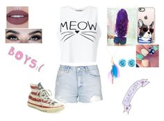 """""""A Outfit"""" by jordanbond55 ❤ liked on Polyvore featuring Topshop, Miss Selfridge, Converse, Casetify and claire's"""