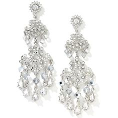 Justine Simmons Jewelry Crystal Silvertone Pavé Swirl Earrings at ...