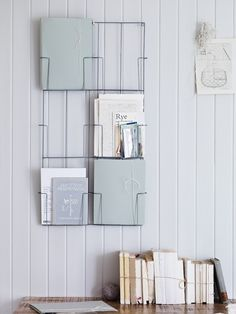 Fantastic Filing Rack- Why hide away your favourite magazines and files when you can make a feature of them? This elegant zinc wall hanging with its six magazine-sized pockets is the perfect office companion.  £30.00  http://www.coxandcox.co.uk