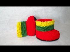 Botinha Jamaica em Crochê Parte -2