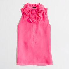 Factory ruffle-collar cami - sleeveless - FactoryWomen's Shirts & Tops - J.Crew Factory
