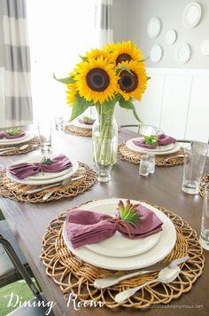 Simple Fall Dining Room decor #worldmarkettribe #SpruceUpYourSpace