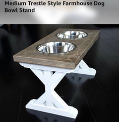 Shop the latest collection of Medium Trestle Style Farmhouse Dog Bowl Stand from the most popular stores - all in one place. Similar products are available. Elevated Dog Bowls, Raised Dog Bowls, Elevated Dog Feeder, Dog Food Stands, Dog Food Bowl Stand, Raised Dog Feeder, Dog Food Bowls, Dog Rooms, Up House