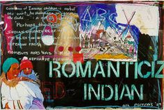 Romanticized Indian by Jane Ash Poitras at the ROM Native American Art, Ash, Comic Books, Indian, Artists, Blog, Gray, Blogging, Cartoons