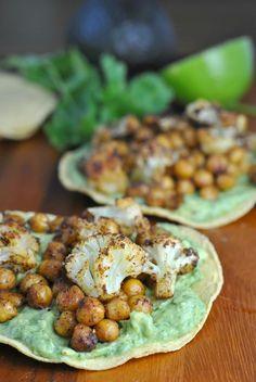 Roasted Vegetable and Chickpea Tostadas + Weekly Menu
