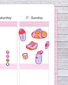 Fitness Planner Stickers, Gym, Workout and Overall Health Sticker Set - - Little Branches Paper - Decoration Clues Planner Supplies, Star Stickers, Fitness Planner, First Kiss, Paper Decorations, Travelers Notebook, Sticker Paper, All Design, Planner Stickers