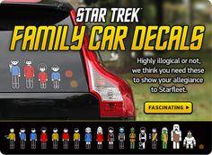 Star Trek Family Car Decals