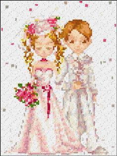 Cross Stitch | Bride and Groom xstitch Chart | Design