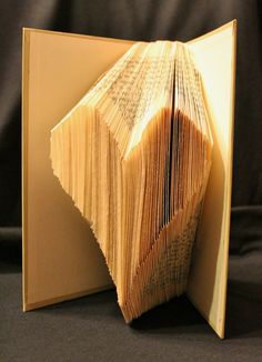 Folded Heart Book Alteration by ~wetcanvas on deviantART. Now this looks like a doable way to start an altered book project. Do one for your Valentine?