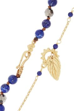 Chan Luu | Set of two gold-plated, lapis lazuli and Swarovski crystal necklaces | NET-A-PORTER.COM