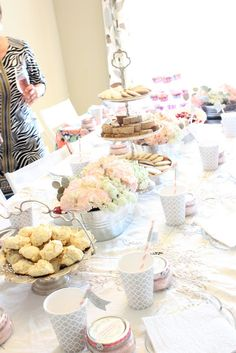 Table Scape for Baby Shower {post by: A Warm Conversation}