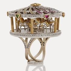 Jewelry Designer Blog. Jewelry by Natalia Khon: Jewellery Masterpices. A carousel ring by Alyona Pryhodko