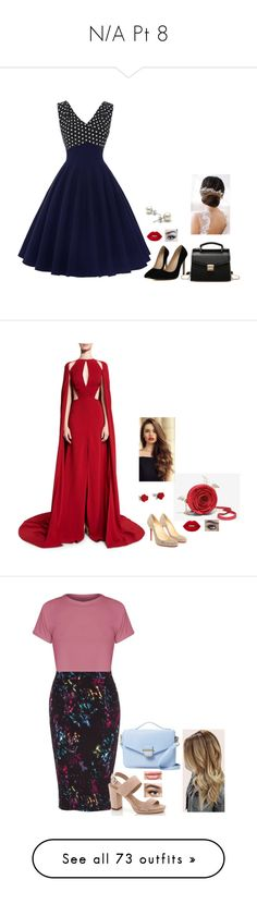 """""""N/A Pt 8"""" by terra-wendy on Polyvore featuring Brides & Hairpins, Lime Crime, Naeem Khan, Christian Louboutin, Melissa McCarthy Seven7, Cynthia Rowley, Lady Godiva, plus size clothing, Swarovski and Elie Saab"""