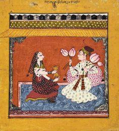Bahu Masters. Raga Madhava: folio from a Ragamala series. Bahu, Jammu, ca. 1720. Museum Rietberg Zürich, Collection of Alice Boner.