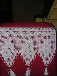 encaje a crochet para cortinas - Buscar con Google