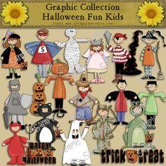Halloween Fun Kids Clip Art Download