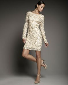 Love this: Long-sleeve Sequin Shift @Lyst Bridesmaids idea?!
