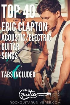 If you are an Eric Clapton fan and haven't learned any of his songs, this is the time to do so! Check these top 40 Eric Clapton acoustic/electric guitar songs with tabs included. #acoustic #electric #guitar #ericclapton Basic Guitar Lessons, Guitar Lessons For Beginners, Play Guitar Chords, Acoustic Guitar, Piano Sheet, Sheet Music, Teach Yourself Guitar, Popular Music Artists, Best Guitar Players