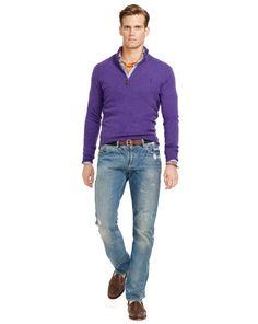 Merino Wool Half-Zip Sweater - Polo Ralph Lauren Half-Zip & Mock Neck - RalphLauren.com