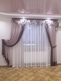 40 Amazing Woodworking Curtains Ideas - Decor Units in 2019 Elegant Curtains, Vintage Curtains, Beautiful Curtains, Modern Curtains, Classic Curtains, Living Room Decor Curtains, Home Curtains, Bedroom Decor, Curtain Styles