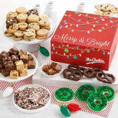 Find something for everyone on your list with our wide variety of gifts - including customizable tins, assorted treat & cookie bundles, and festive gift boxes. #MrsFields #Cookies #Holiday #ChristmasIsComing #Gift
