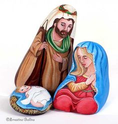 Nativity painted on rock | Flickr - Photo Sharing!