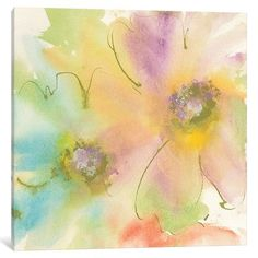 """Mercury Row Rainbow Cosmos II Painting Print on Wrapped Canvas Size: 26"""" H x 26"""" W x 0.75"""" D"""