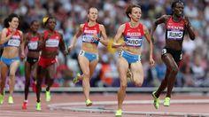 Mariya Savinova of Russia and Pamela Jelimo of Kenya compete in the Women's 800m Final  /Photos - 2012 Olympics | London 2012