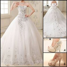 Elegant wedding dress perfects for you!