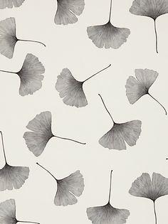 Buy Marimekko Biloba Wallpaper, Black / White, 13042 online at JohnLewis.com - John Lewis