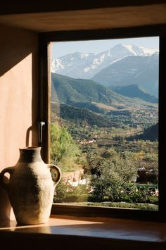 View of surrounding Atlas Mountains, Morocco.