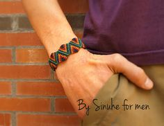 Macrame Bracelet for men Men jewels Unisex Armband by BySinuhe