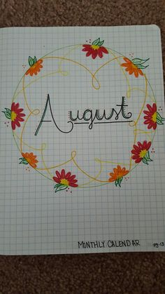 This is *my* start to a bullet journal. Took an idea I pinned and added to it :) I'm actually pretty excited about how well it turned out! ~Jess