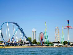 """Cedar Point, Sandusky, Ohio Touting itself as the roller coaster capital of the world, Cedar Point's 17 coasters will ensure you're riding all day. Enthusiastic reader Alicia Goettemoeller describes the park as an """"adrenaline junkie's paradise,"""" while reader Nick Schuyler says it is """"built for grown-up kids.""""     Map data ©2016 Google Terms of Use    1 Cedar Point-  Amusement Parks That Will Make You Squeal"""