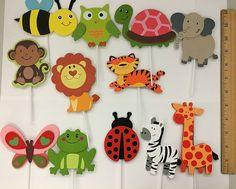 LARGE 7  12 Wooden safari animal cutouts Jungle by CSMDiaperCakes