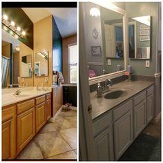 black and white bathroom vanity ideas Cheap Bathroom Makeover, Bathroom Makeovers On A Budget, Budget Bathroom, Master Bathroom, Bathroom Ideas, Bathroom Inspiration, Bath Ideas, Washroom, Bathroom Vanities
