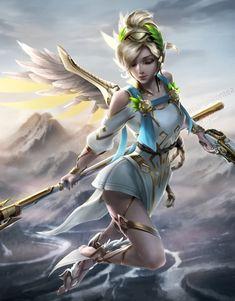 Winged Victory Mercy by imDRUNKonTEA.deviantart.com on @DeviantArt - More at https://pinterest.com/supergirlsart #overwatch #fanart