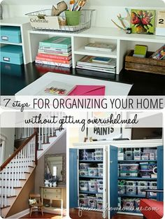 7 steps for ORGANIZING your home.