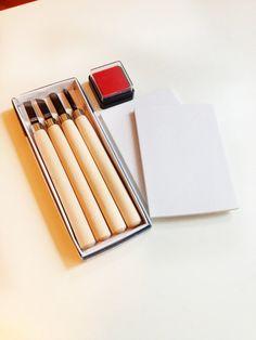 Rubber Stamp Carving Kit - For Beginner - Rubber Block - Eraser Block - Carving Kit - Ready to ship