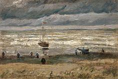 Vincent van Gogh,  View of the Sea at Scheveningen 1882 on ArtStack #vincent-van-gogh #art