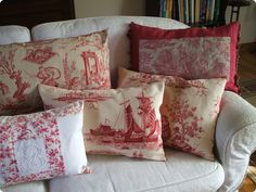 ~ Red and white pillows ...