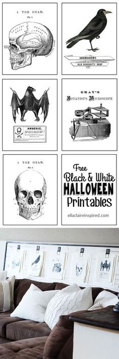 Free Black and White Halloween Posters