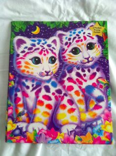 Lisa Frank Two Pocket 3 Prong Sasha and Shanti Folder New Unused BTS #LisaFrank