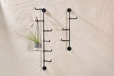 Small Aniko Wall Mounted Hooks – Lillian Daph Wall Mounted Hooks, Wall Hooks, Drink Table, Bathroom Collections, Ceramic Tableware, Hanging Storage, Black Walls, Antique Metal, Handmade Home