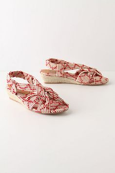 Anthropologie Racing Red Sandals