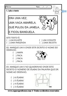 Espaço Professor: Cadernos de leitura e interpretação de textos Kit com 3 cadernos Albert Einstein, First Grade, Literacy, Classroom, Education, Pin It, Gabriel, Tatoos, Pasta