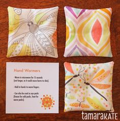 hand warmers with instructions - great gift idea... stocking stuffer... teacher gift... personal treat...