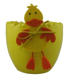 Napco 3-3/4-Inch Tall Yellow Ceramic Duck Planter by Napco. $9.68. 3-3/4-inch tall and 4-inch diameter opening. Glossy yellow ceramic pot looks like the bottom part of a cracked egg and has felt orange and yellow duck accent. Quality and classy home decor made easy. Made of quality ceramic for durability and long lasting beauty. Spruce up your garden, deck or patio outside or use as decorative ornamental accent inside. Napco has built a uniquely innovative in-house design ...